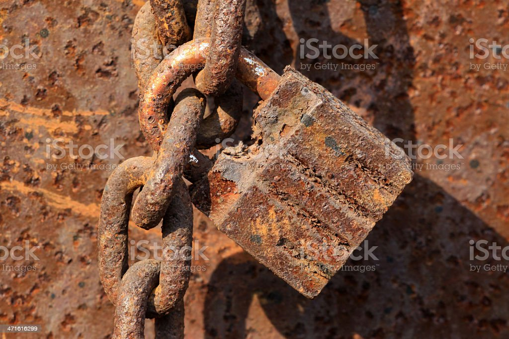 rusty lock royalty-free stock photo