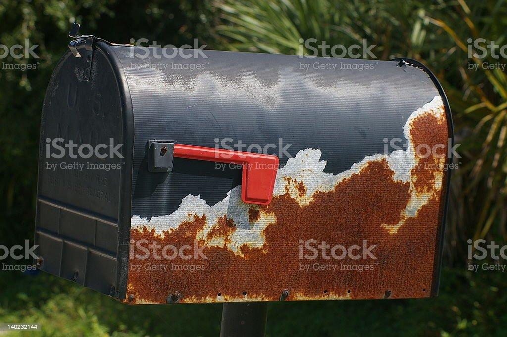 Rusty buzón de foto de stock libre de derechos