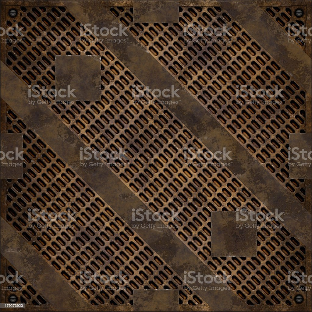 Rusty manhole cover (Seamless texture) royalty-free stock photo