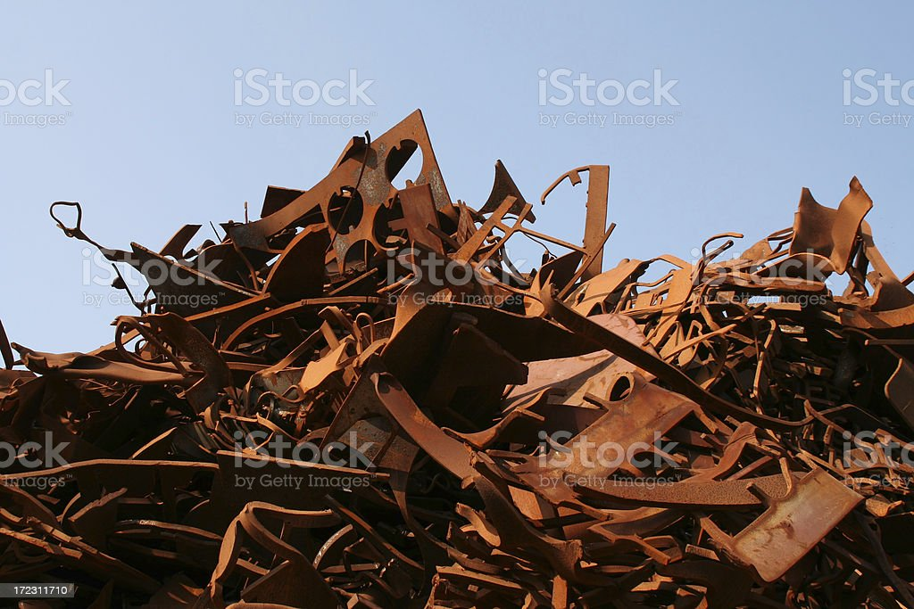 Rusty metal and iron # 3 royalty-free stock photo
