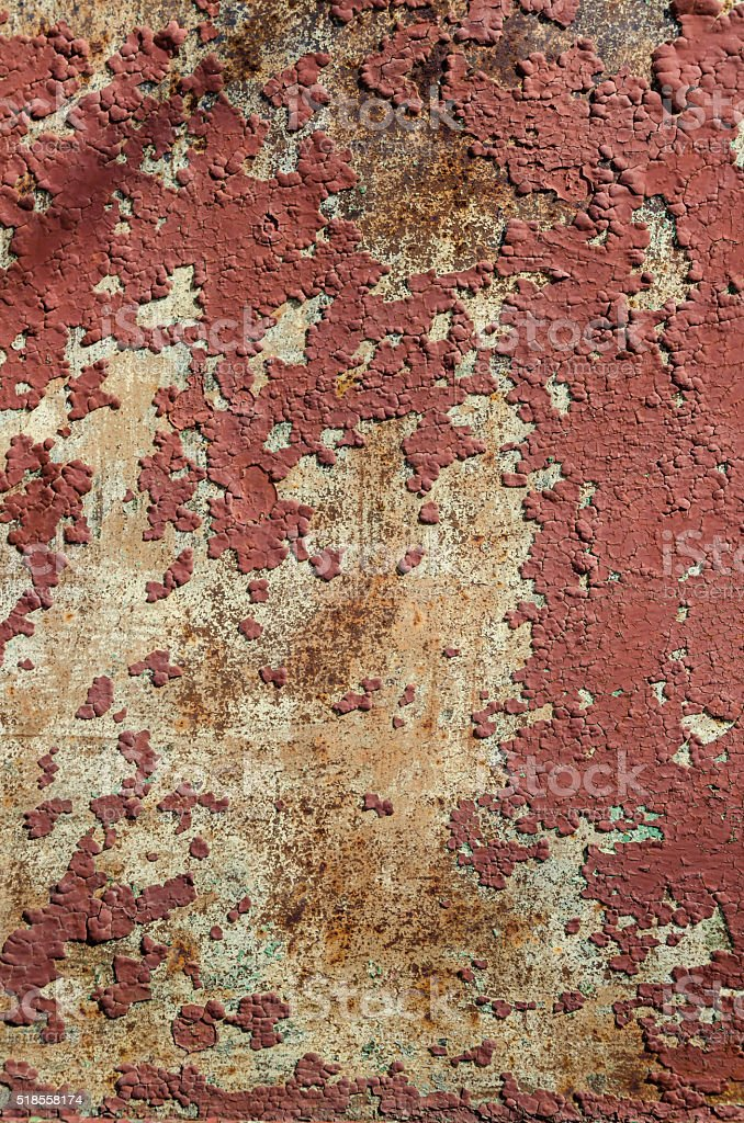 Rusty metal and old paint stock photo