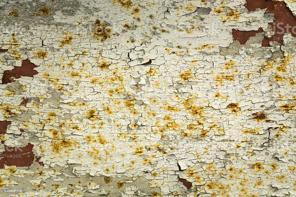 Rusty metal and peeling paint royalty-free stock photo