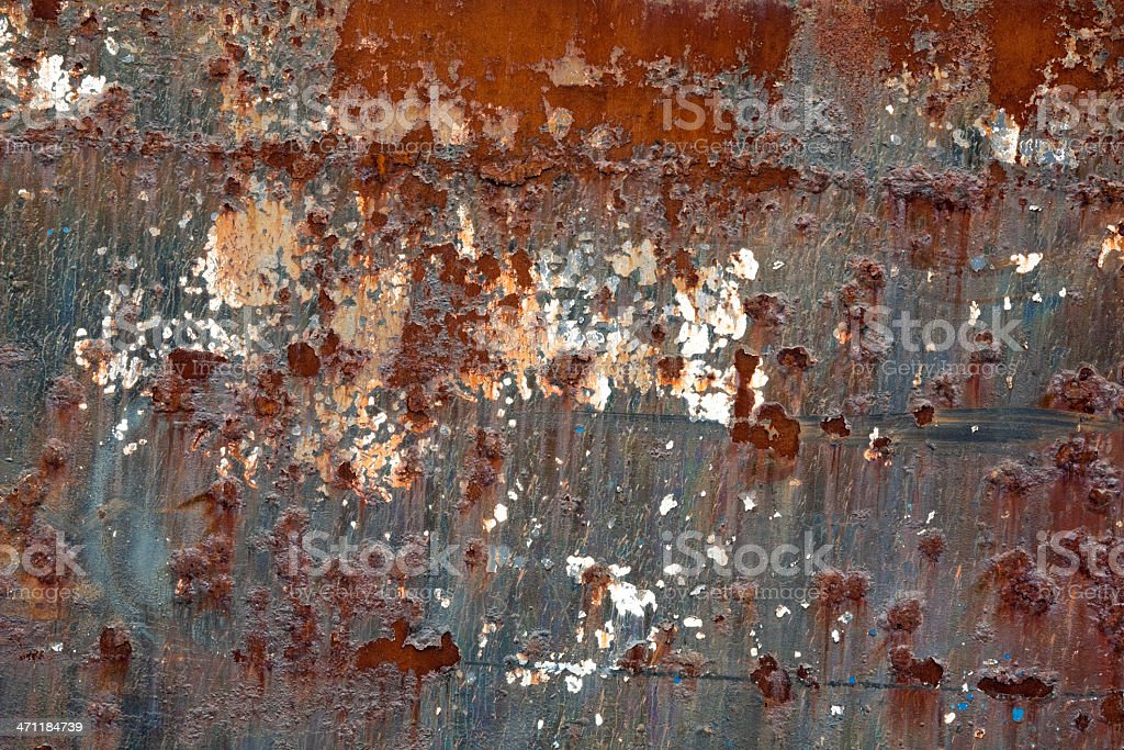 Rusty metal background; side of industrial tanker ship royalty-free stock photo