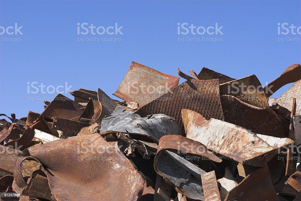 Rusty metal close-up royalty-free stock photo