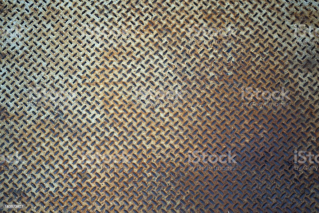 rusty metal diamond plate background stock photo