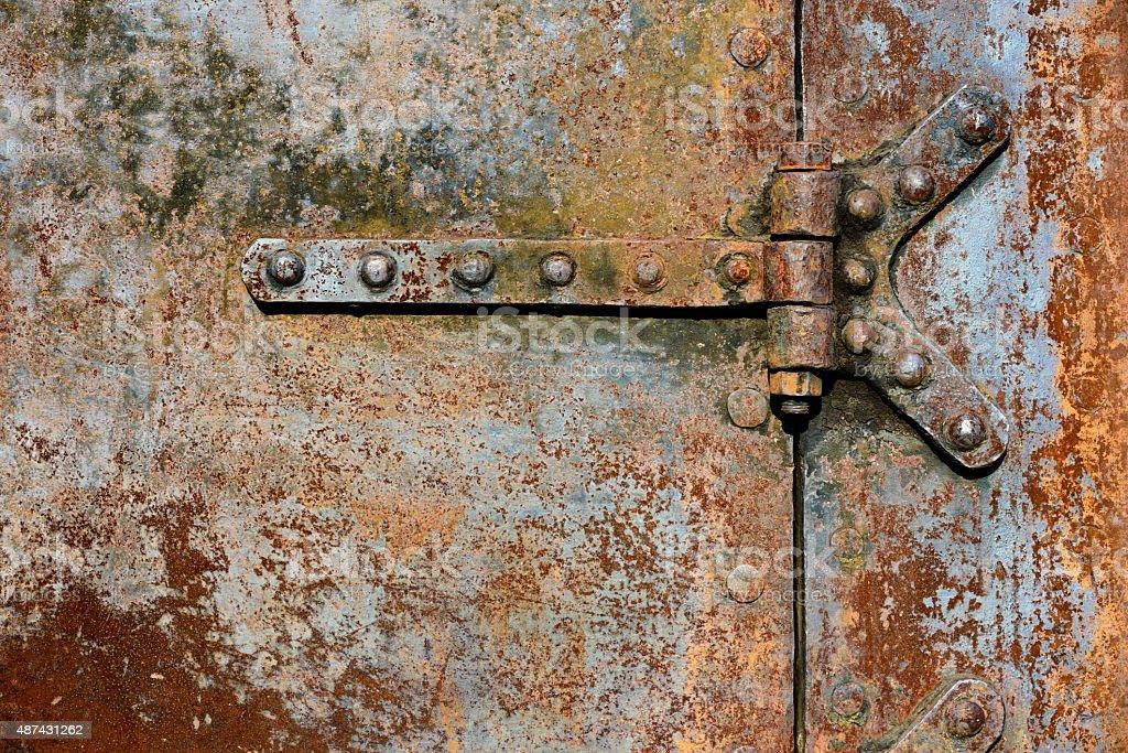 Rusty Metal Door unique rusty metal door ancient black stock photo 11888483 e