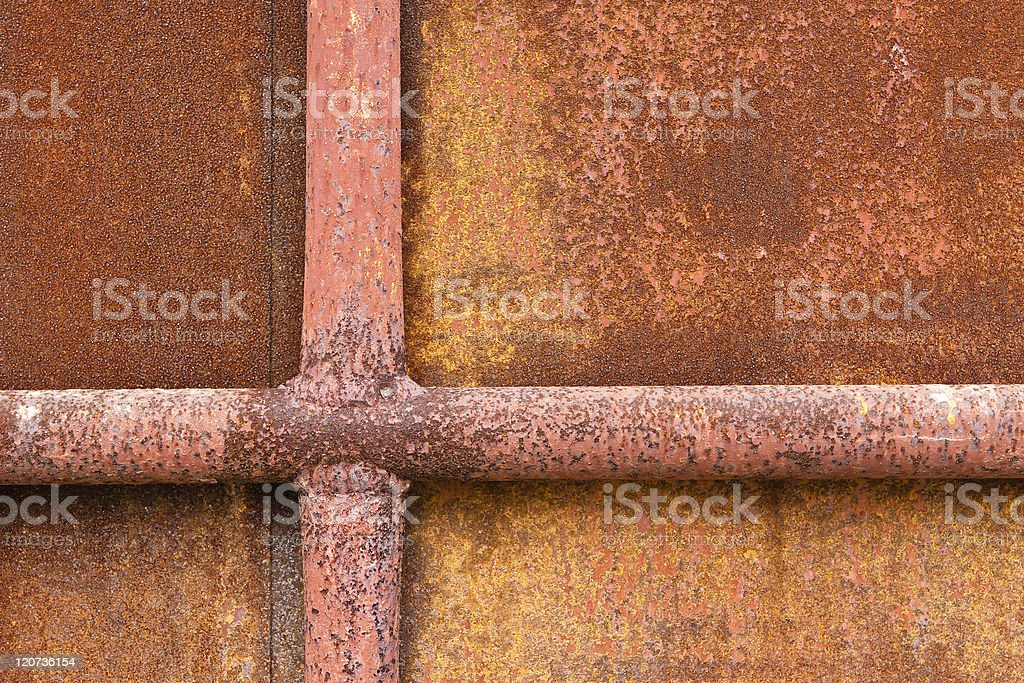 rusty metal door royalty-free stock photo