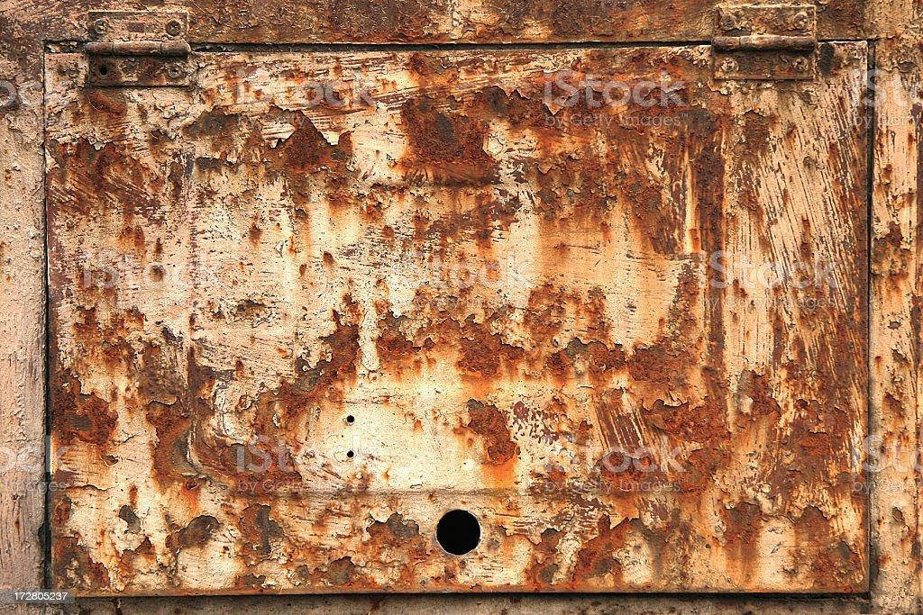 Rusty metal door royalty-free stock photo