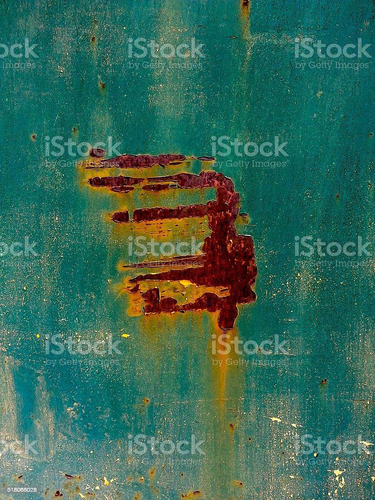 Rusty metal door stock photo