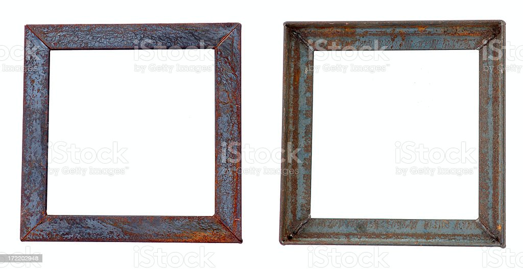 Rusty Metal Frame royalty-free stock photo