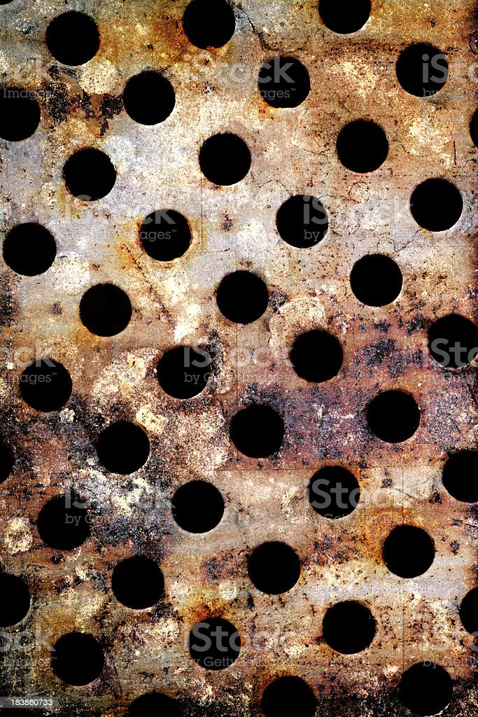 Rusty Metal Holes royalty-free stock photo