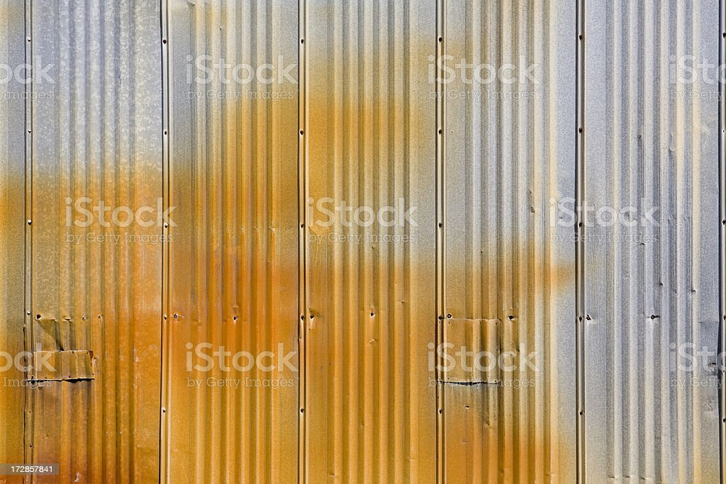 Rusty metal industrial paneling royalty-free stock photo