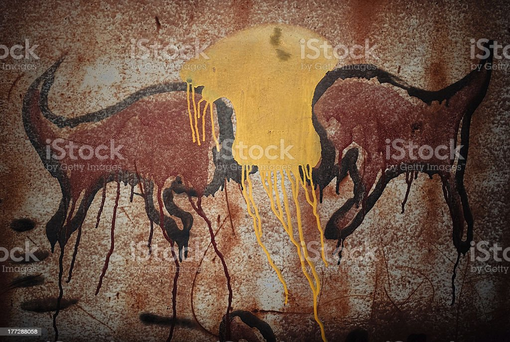 Rusty metal painting royalty-free stock photo