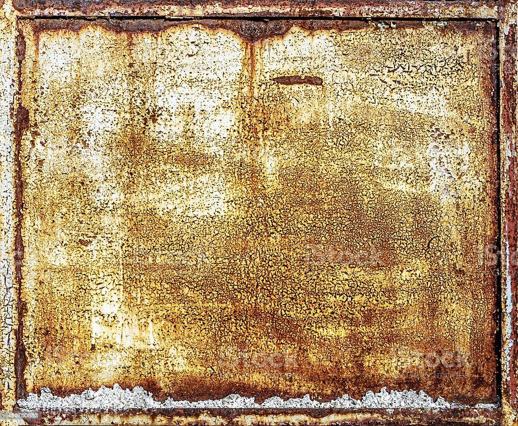 rusty metal panel royalty-free stock photo