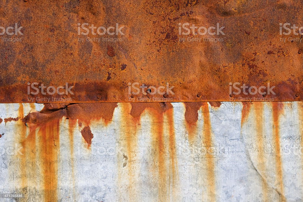 Rusty metal pattern royalty-free stock photo