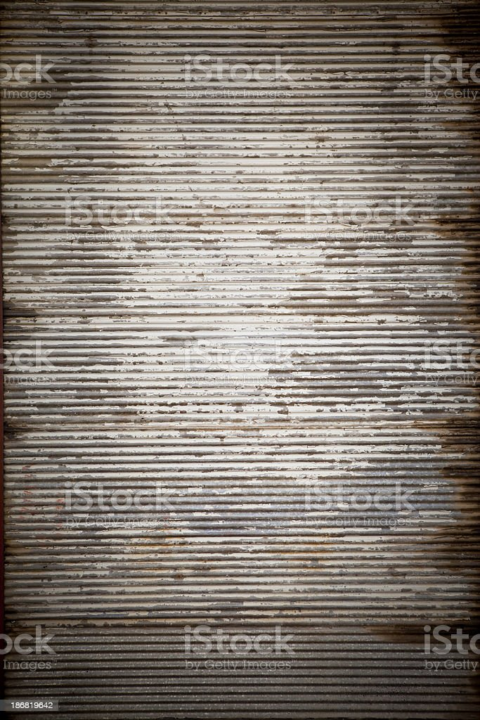 Rusty metal plate door stock photo