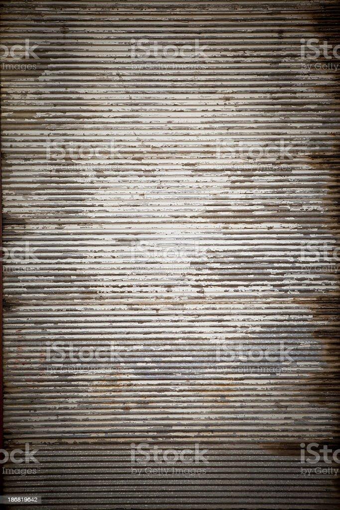 Rusty metal plate door stock photo