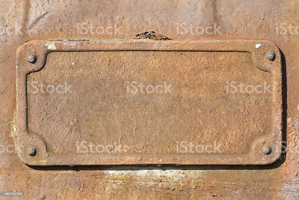 Rusty metal plate texture royalty-free stock photo