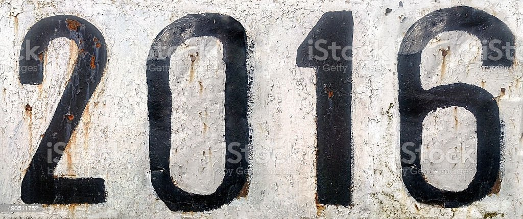 Rusty metal plate with numbers stock photo