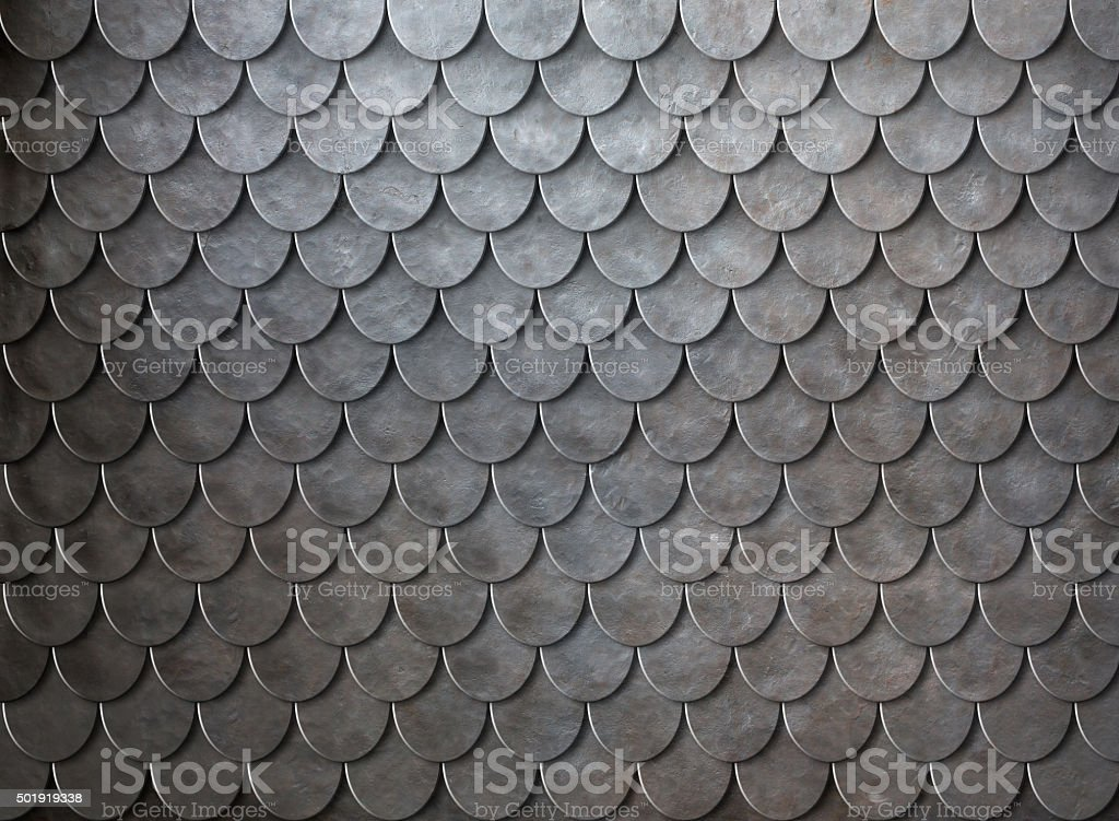 Rusty metal scales armor background stock photo