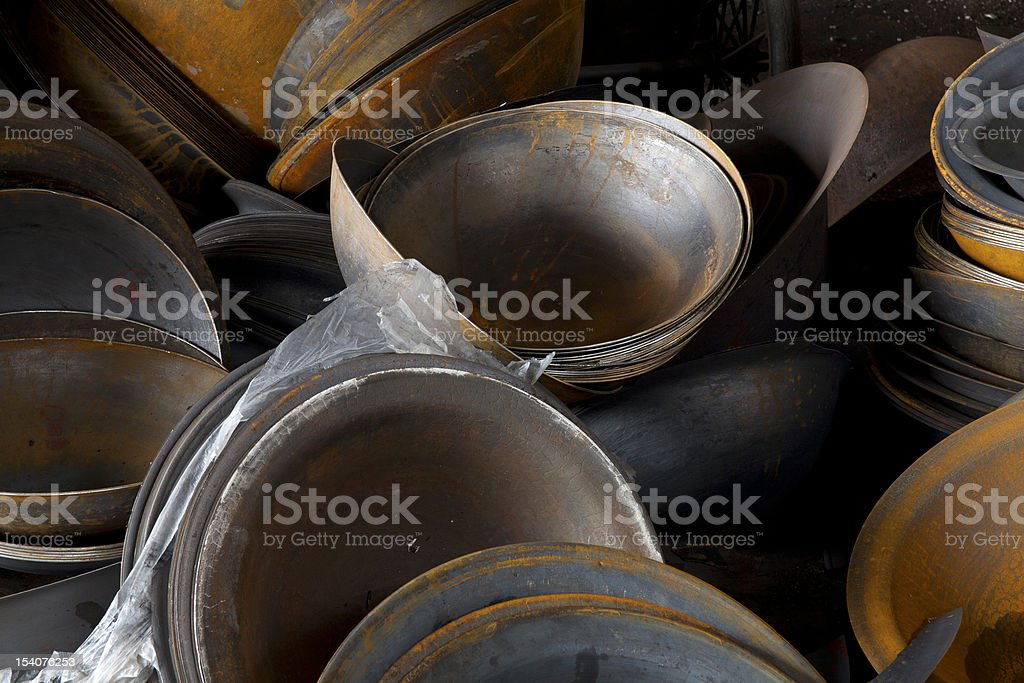 Rusty metal semi-finished products stock photo