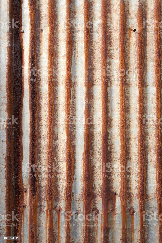 Rusty Metal Siding royalty-free stock photo