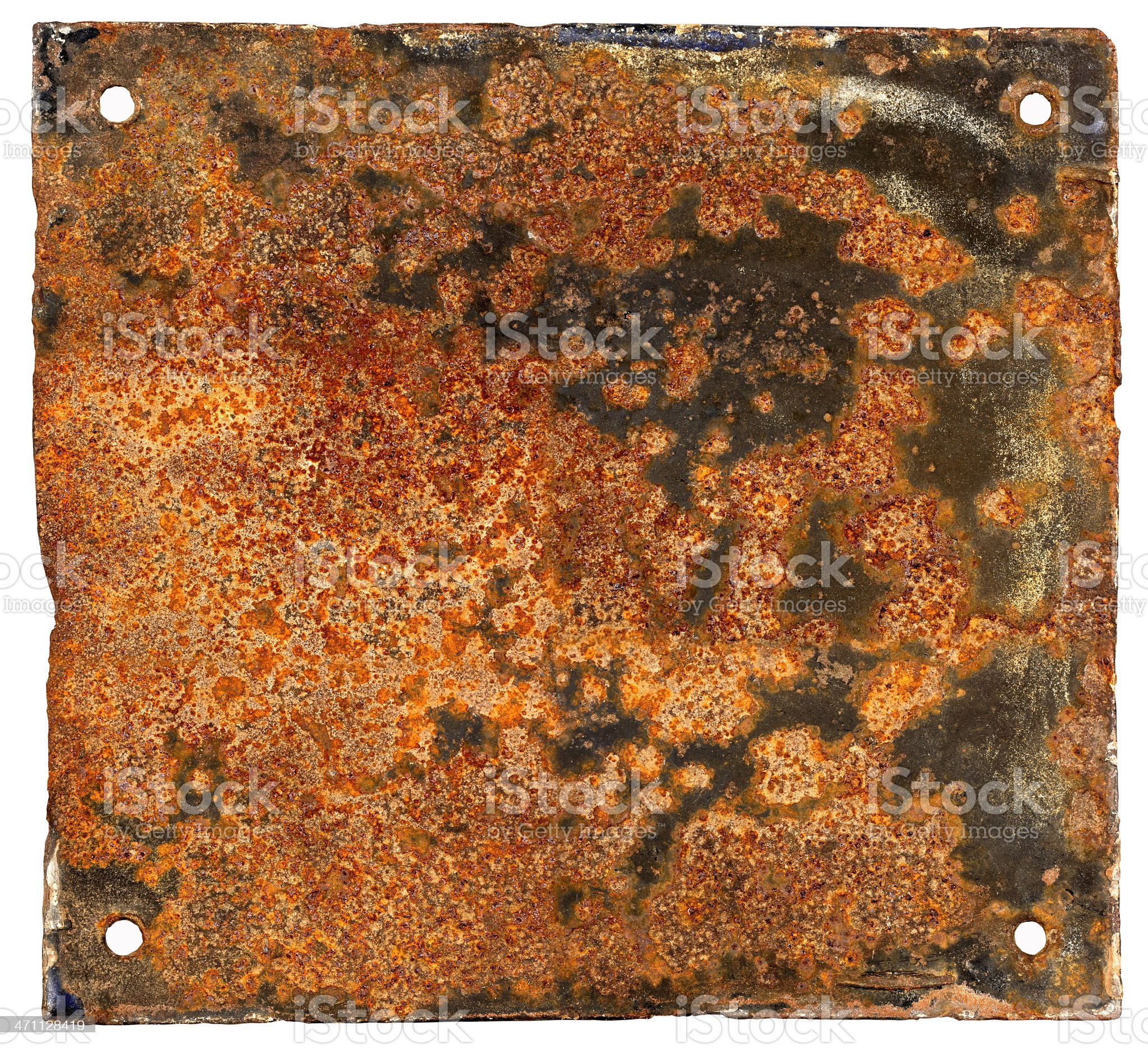 Rusty metal sign royalty-free stock photo