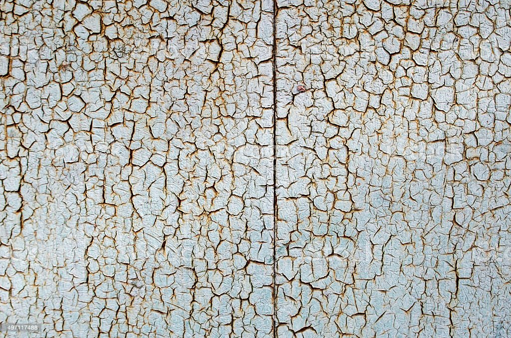 Rusty metal surface is covered the paint stock photo