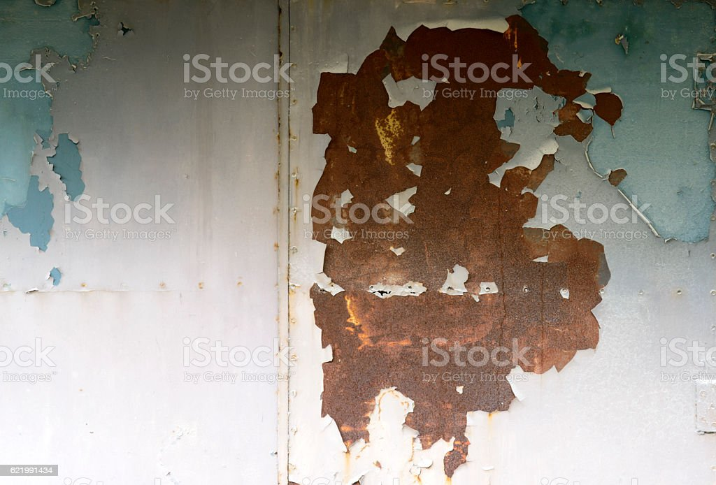 Rusty metal surface texture close up stock photo