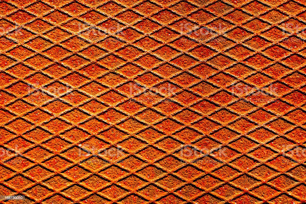 Rusty metal surface with reticulated texture and pattern royalty-free stock photo