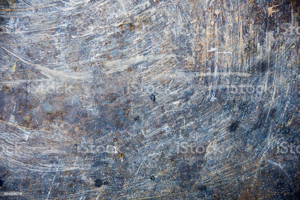 Rusty metal surface with rich and various texture stock photo