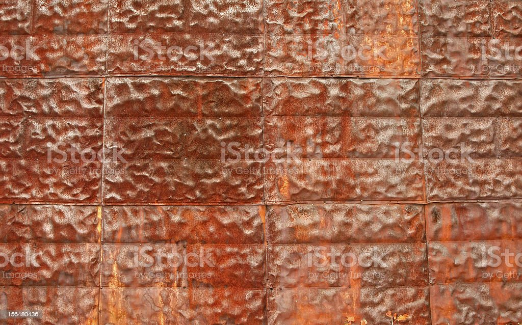 Rusty metal texture as background royalty-free stock photo