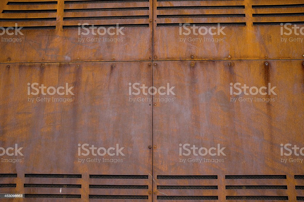 Rusty Metal Wall royalty-free stock photo
