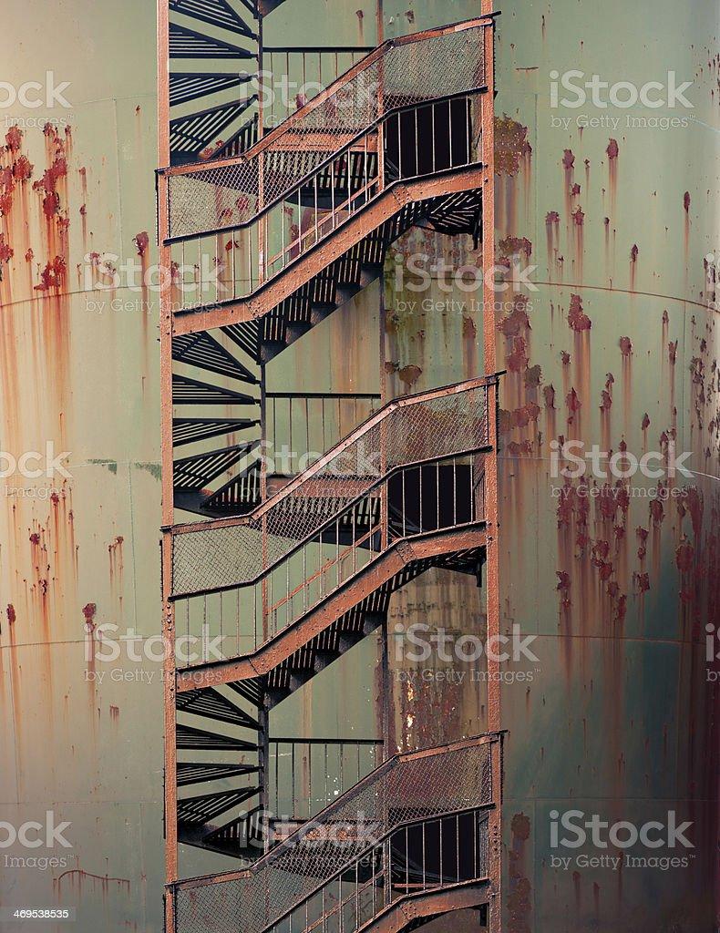 Rusty metal wall stock photo