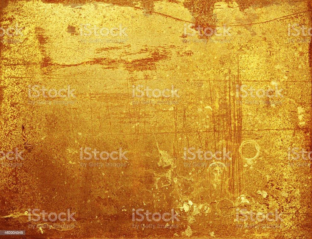 Arrugginito metallo con colori oro e rosso foto stock royalty-free