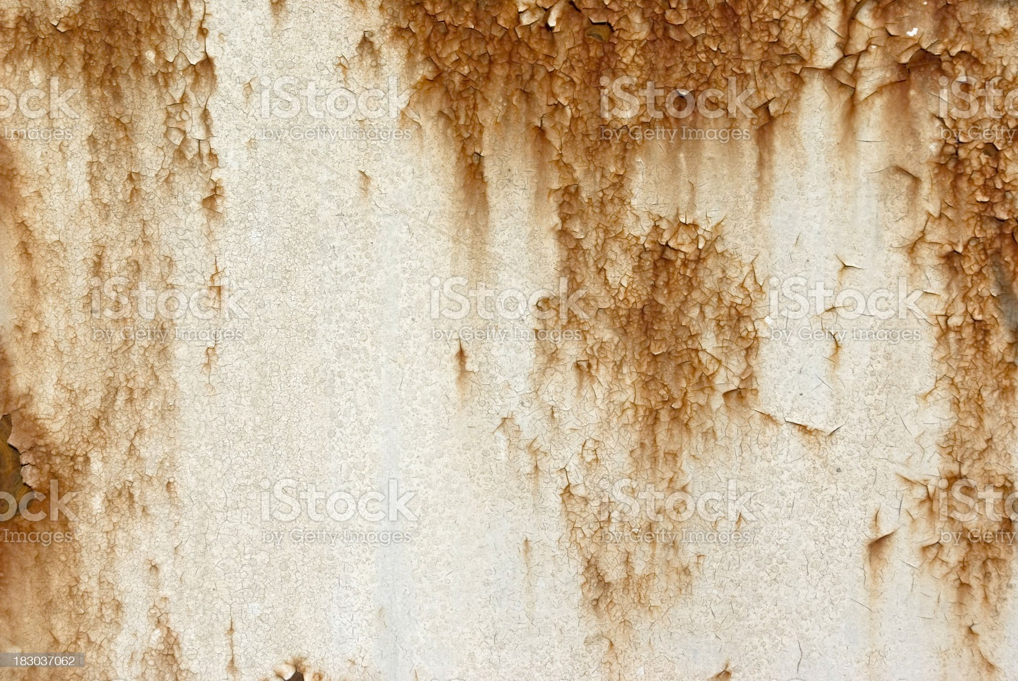Rusty metal with white paint royalty-free stock photo