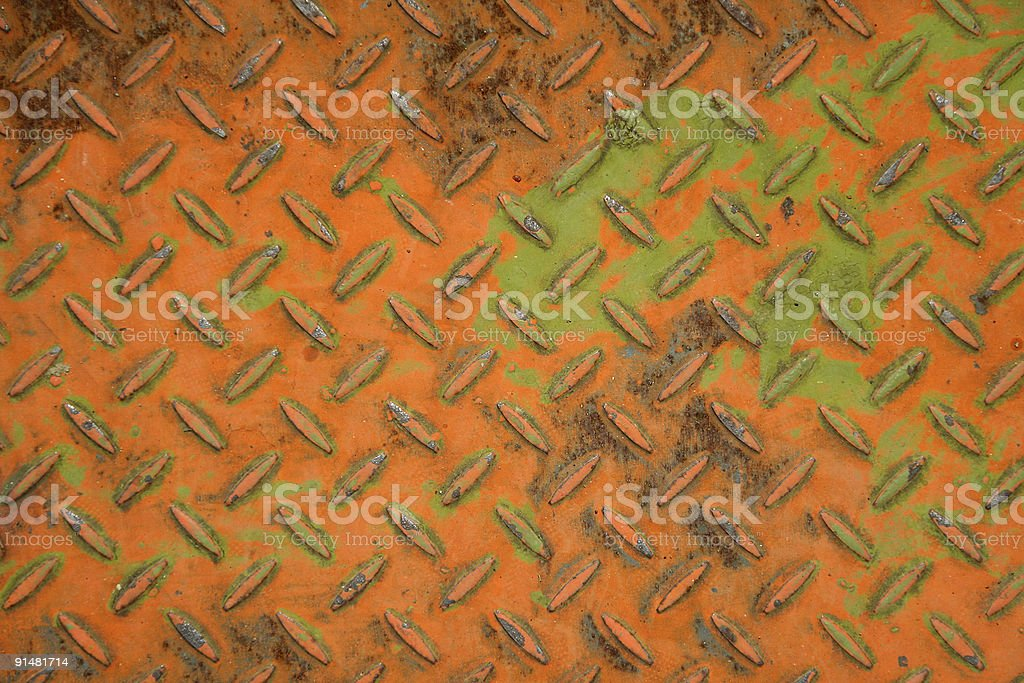 Rusty metallic panel royalty-free stock photo