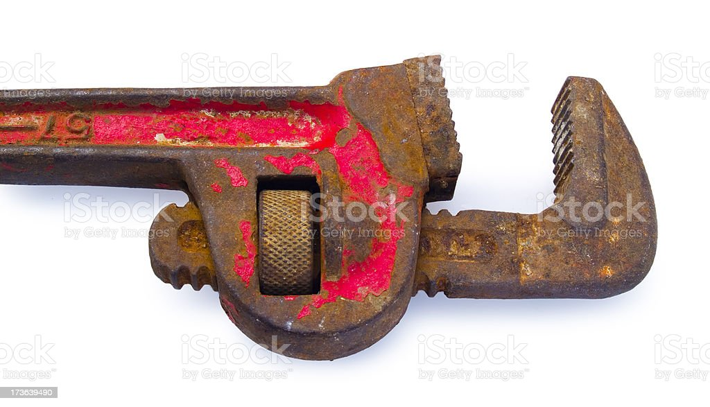 Rusty Monkey Wrench stock photo