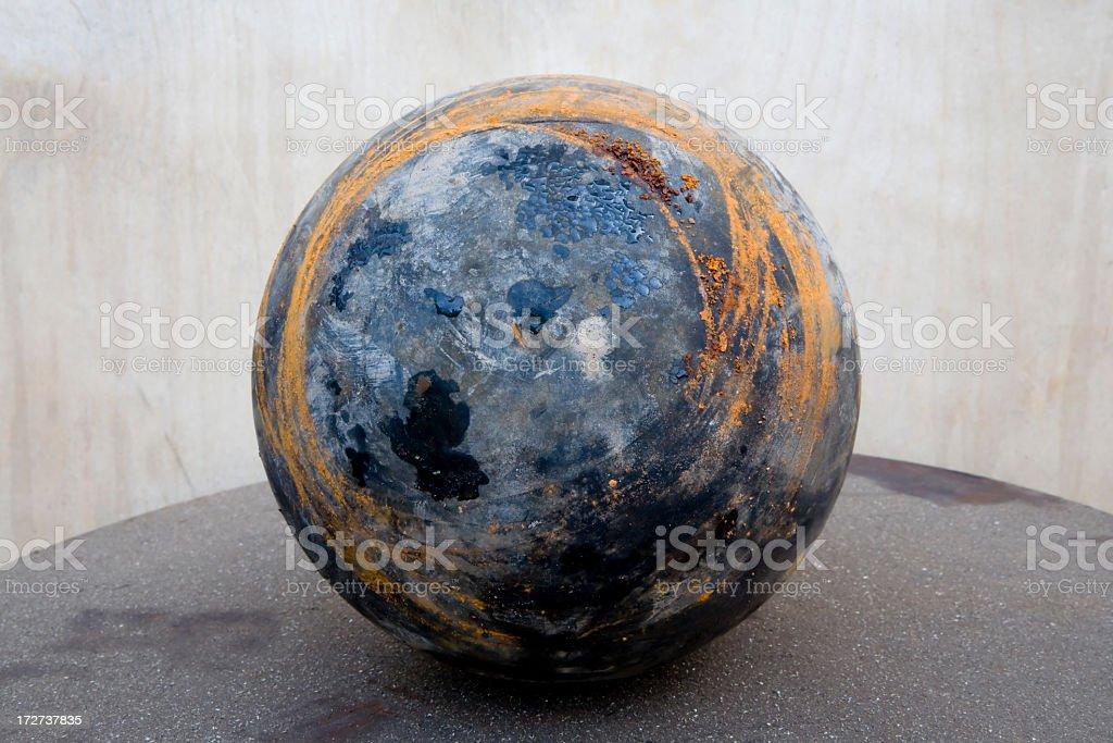 Rusty Mud Globe royalty-free stock photo