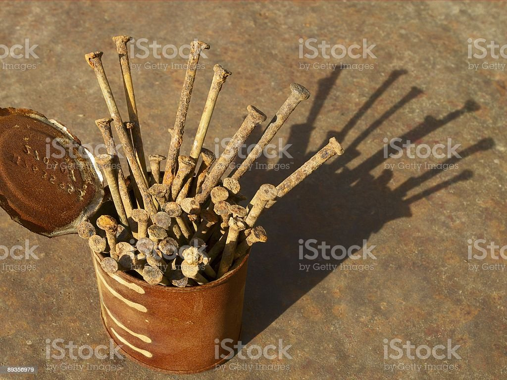 Rusty nails royalty-free stock photo