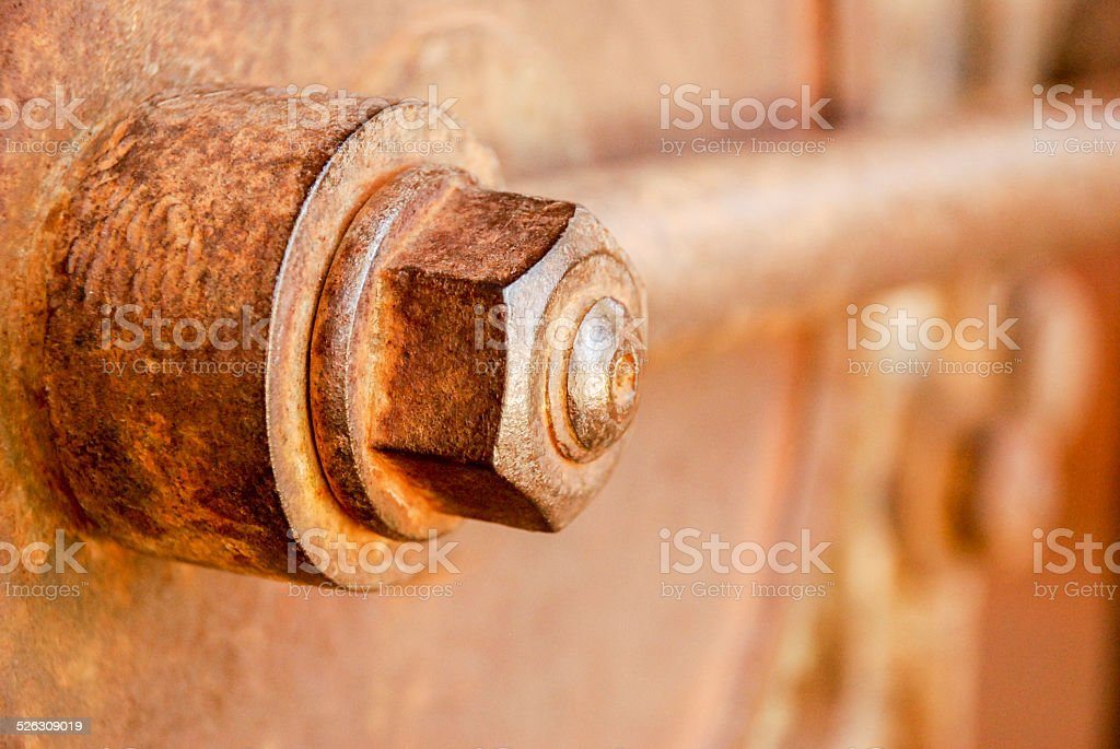 Rusty nut stock photo