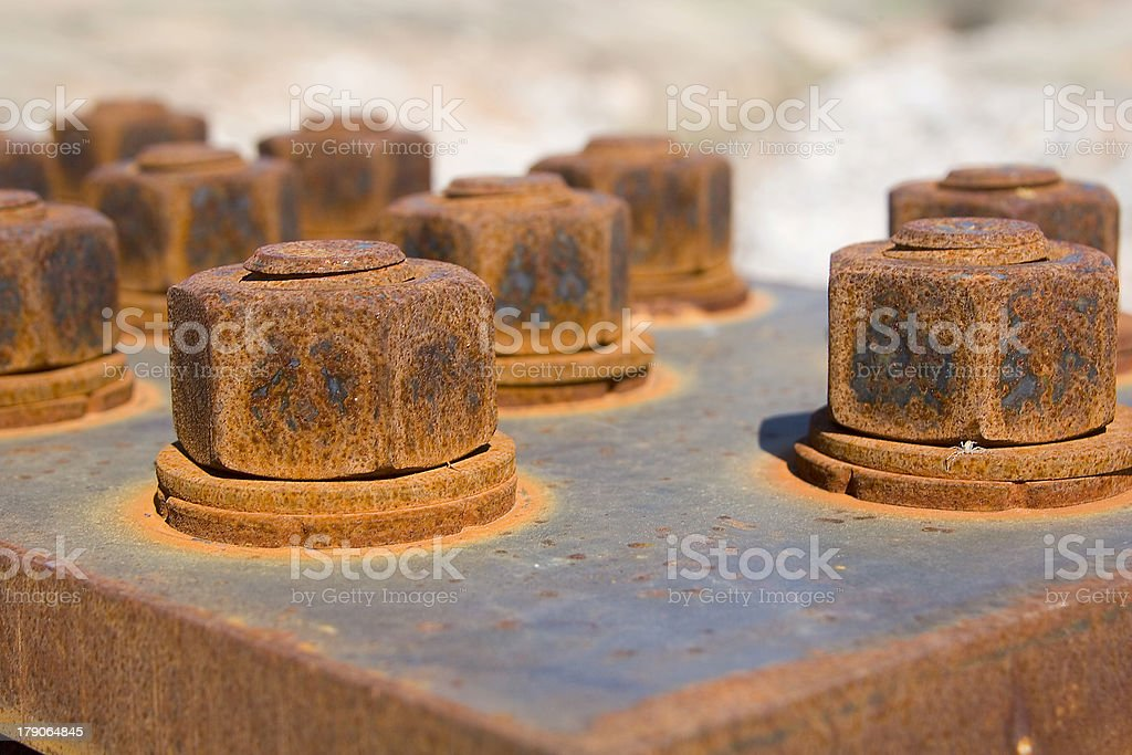 Rusty Nuts and Bolts royalty-free stock photo
