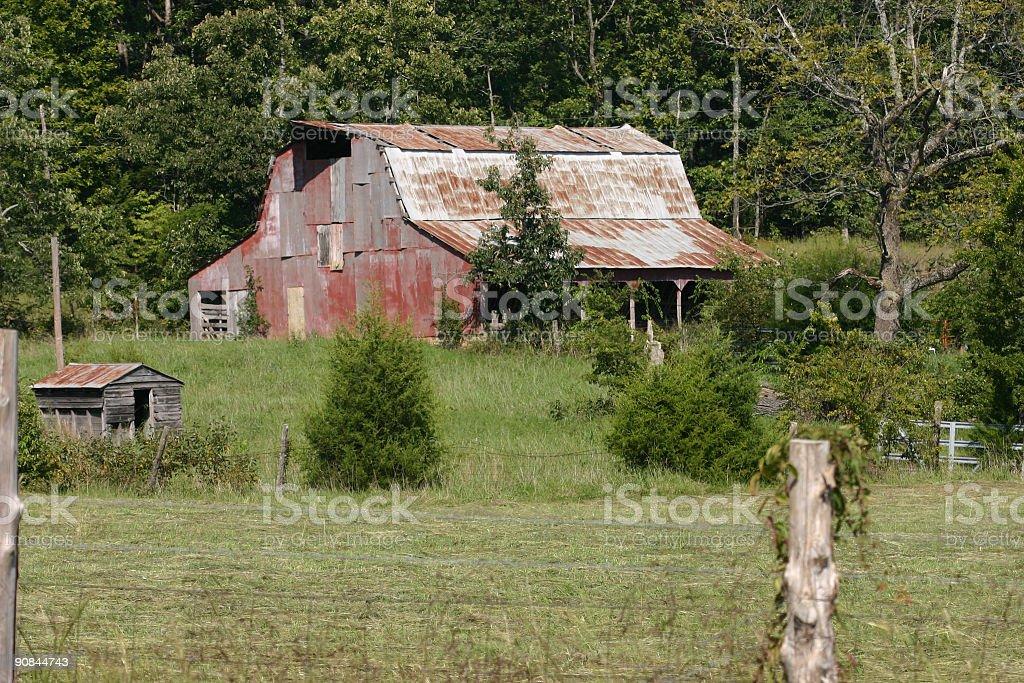 Rusty Old Barn stock photo