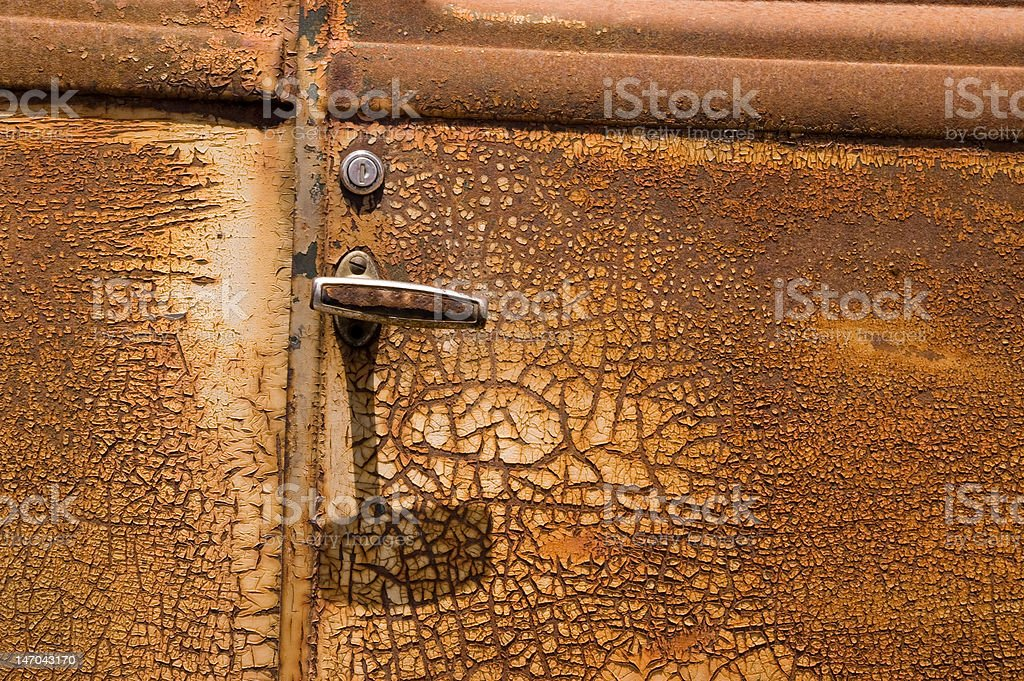 Rusty Old Car Door royalty-free stock photo