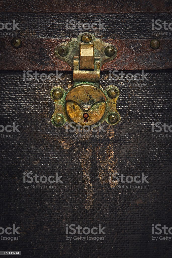 Rusty Old Chest Trunk royalty-free stock photo