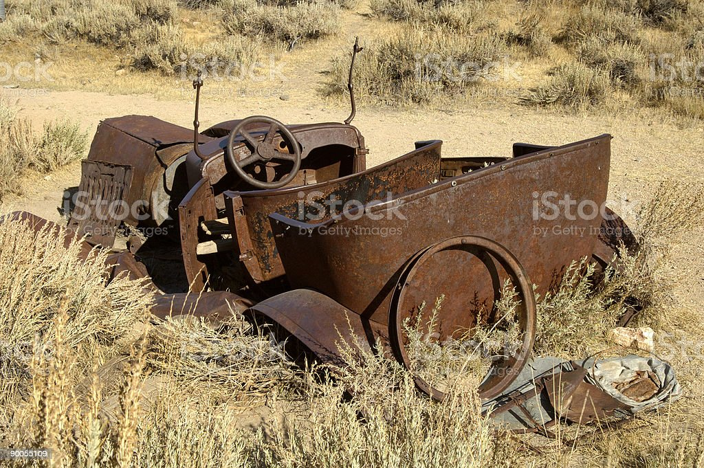 Rusty old convertable 1 royalty-free stock photo