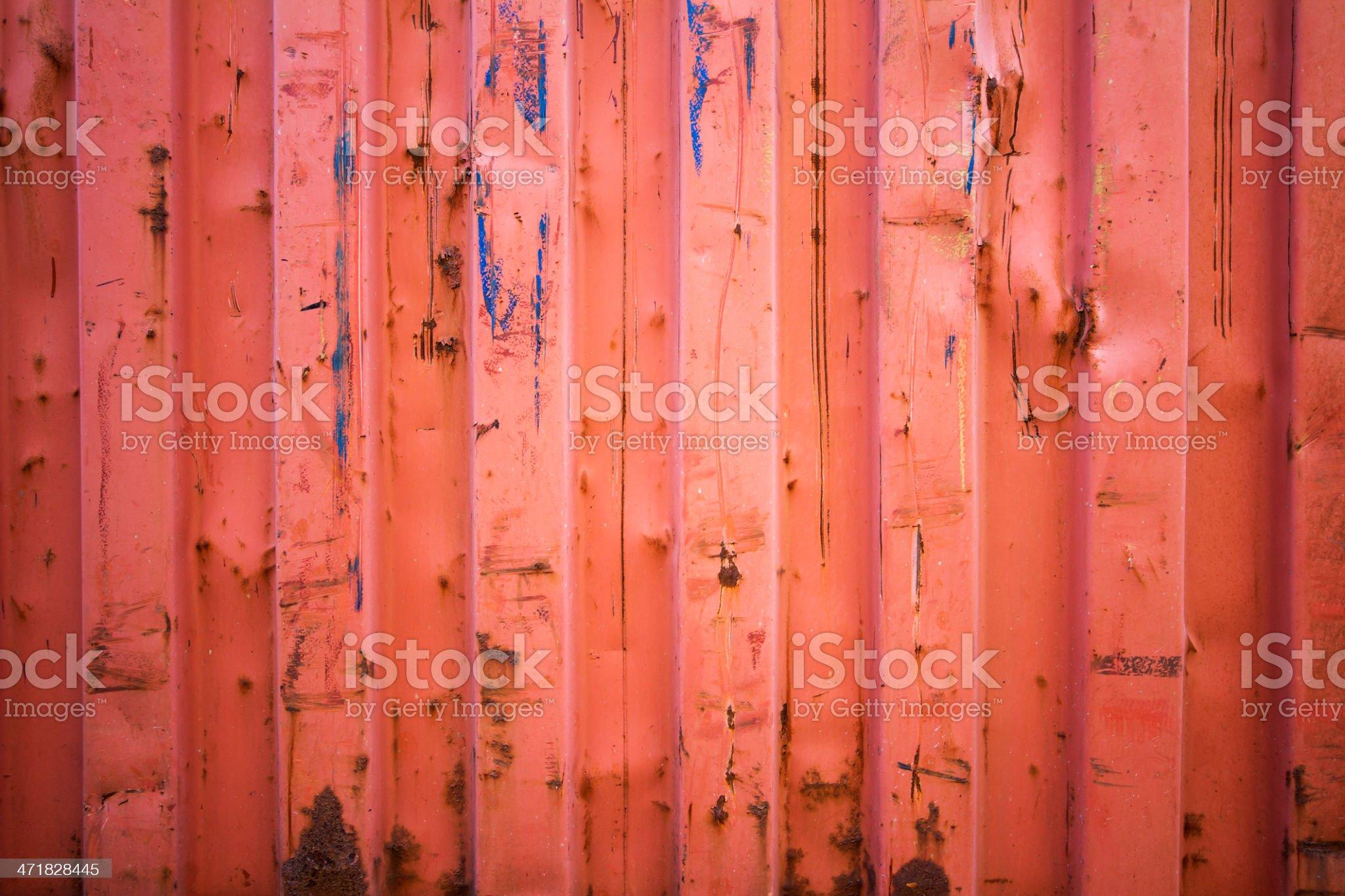 Rusty old corrugated iron royalty-free stock photo