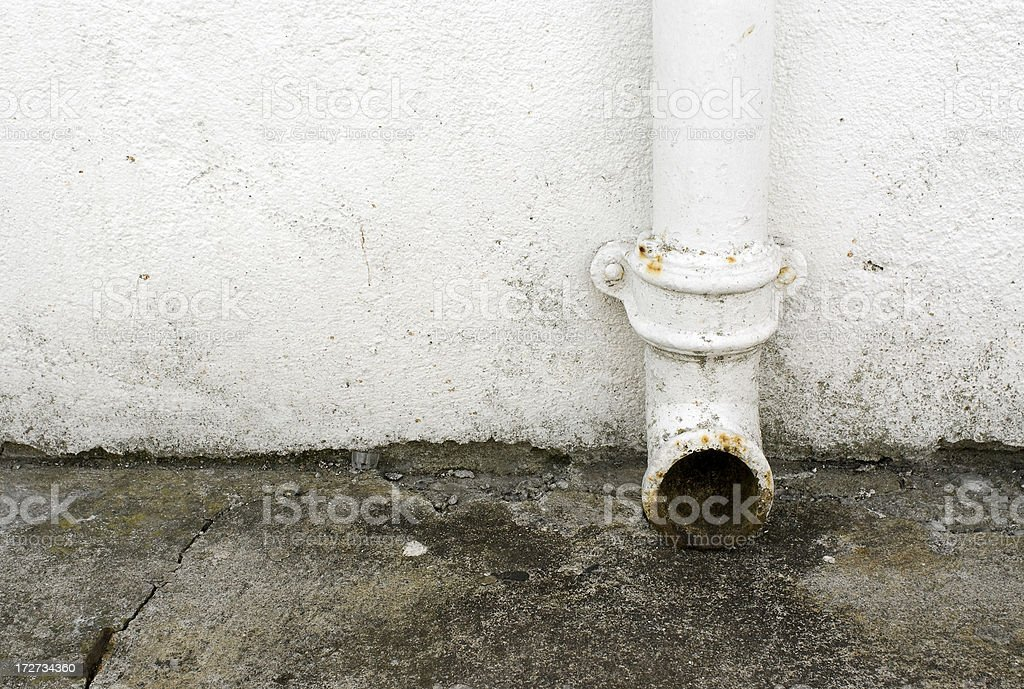 rusty old drain royalty-free stock photo