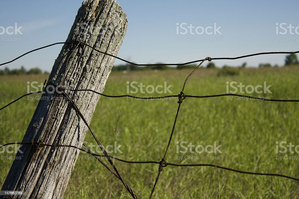 Rusty old fence stock photo