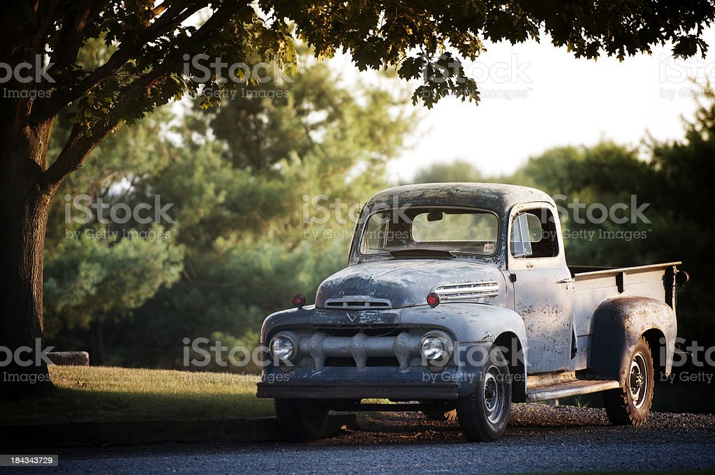 Rusty Old Ford F2 Pickup royalty-free stock photo